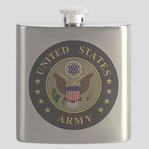 Army-Emblem-Blue-Olive Flask