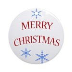 Merry Christmas - Holiday Ornament (Round)