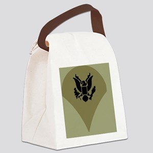 Army-Spec4-Vietnam-Sticker Canvas Lunch Bag