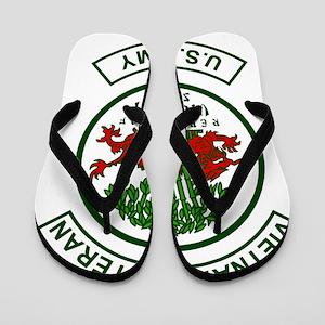 Army-Vietnam-Veteran-Army-Green Flip Flops