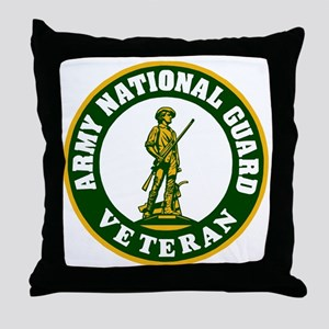 ARNG-Veteran-3-Green Throw Pillow
