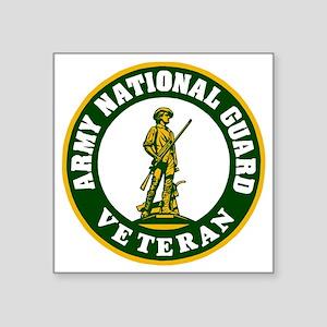 "ARNG-Veteran-3-Green Square Sticker 3"" x 3"""