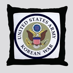 ARMY-Korean-War-Veteran-Bonnie-2 Throw Pillow