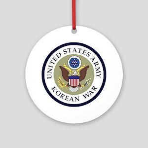 ARMY-Korean-War-Veteran-Bonnie-2.gi Round Ornament