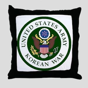 ARMY-Korean-War-Veteran-Bonnie Throw Pillow