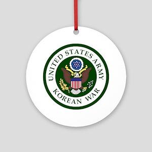 ARMY-Korean-War-Veteran-Bonnie Round Ornament
