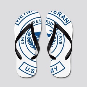 USAR-Vietnam-Veteran-Blue-White Flip Flops
