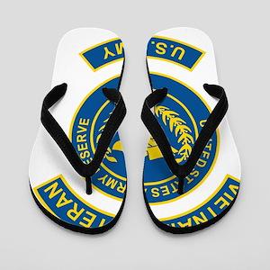 USAR-Vietnam-Veteran-Blue Flip Flops