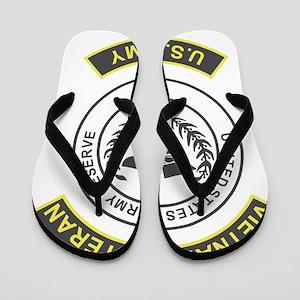 USAR-Vietnam-Veteran-Green-Yellow Flip Flops