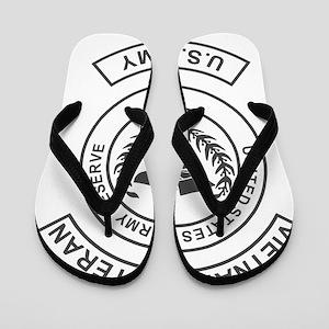 USAR-Vietnam-Veteran-Green Flip Flops
