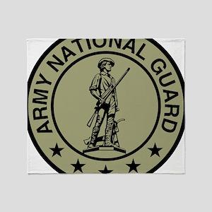 ARNG-Logo-Black-Olive Throw Blanket