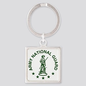 ARNG-LOGO-Green-For-Yellow-Shirt.g Square Keychain
