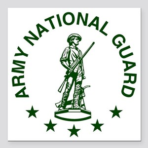 "ARNG-LOGO-Green-For-Yell Square Car Magnet 3"" x 3"""