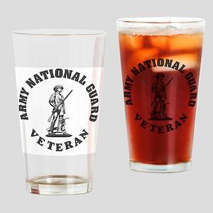 ARNG-Veteran-Green-White Drinking Glass