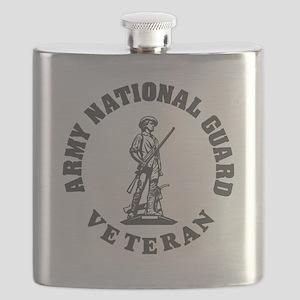 ARNG-Veteran-Green-White Flask