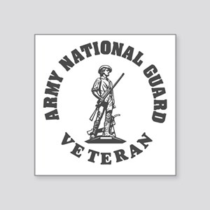 "ARNG-Veteran-Green-White.gi Square Sticker 3"" x 3"""