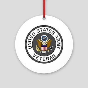 Army-Veteran-Army-Green-3 Round Ornament