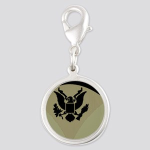 Army-Spec5-Subdued-Magnet Silver Round Charm
