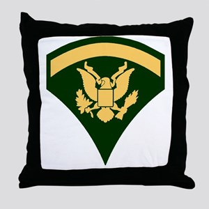 Army-Spec5-Green-Da... Throw Pillow