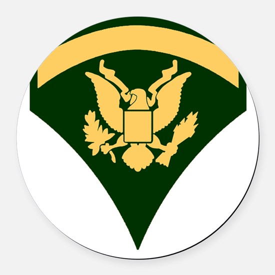 Army-Spec5-Green-Da... Round Car Magnet
