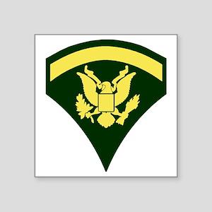 "Army-Spec5-Green-Ca... Square Sticker 3"" x 3"""