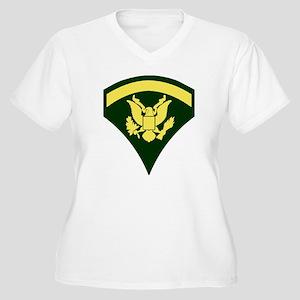 Army-Spec5-Green- Women's Plus Size V-Neck T-Shirt
