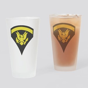 Army-Spec5-Green-Sticker Drinking Glass