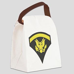 Army-Spec5-Green-Sticker Canvas Lunch Bag