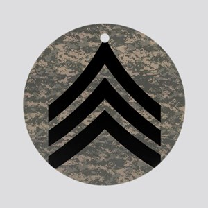 Army-SGT-Subdued-Tile-4 Round Ornament
