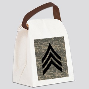 Army-SGT-Subdued-Tile-4 Canvas Lunch Bag