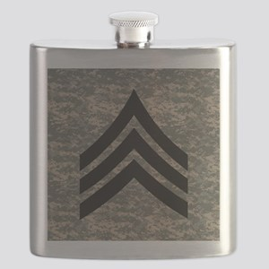 Army-SGT-Subdued-Tile-4 Flask
