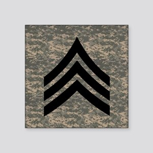 """Army-SGT-Subdued-Tile-4 Square Sticker 3"""" x 3"""""""