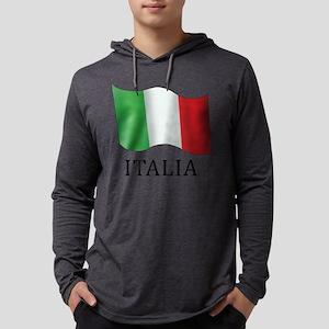 Italia Flag Mens Hooded Shirt