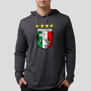 Italia Shield Mens Hooded Shirt