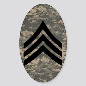 Army-SGT-Subdued-Sticker-4 Sticker (Oval)