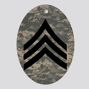 Army-SGT-Subdued-Sticker-4 Oval Ornament