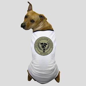 3-USAR-Retired-Black-On-Olive Dog T-Shirt