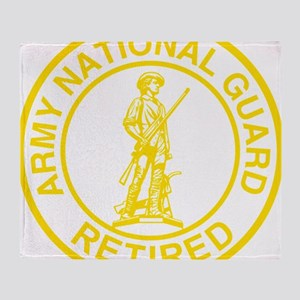 ARNG-Retired-Gold-Dark-Shirt Throw Blanket