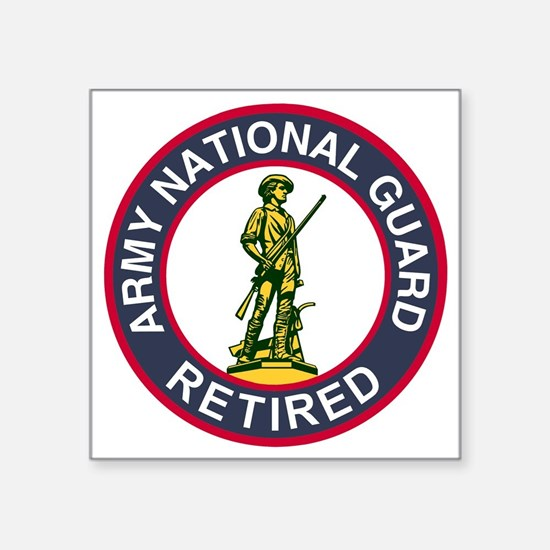 """ARNG-Retired-Red-Blue.gif Square Sticker 3"""" x 3"""""""