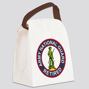 ARNG-Retired-Red-Blue Canvas Lunch Bag