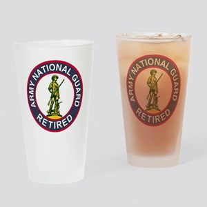 ARNG-Retired-Red-Blue Drinking Glass