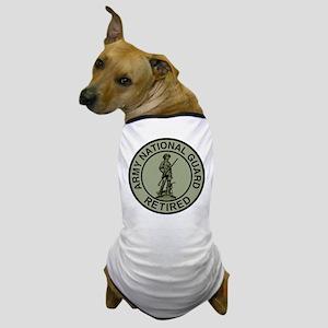 ARNG-Retired-Black-Green Dog T-Shirt