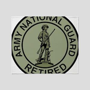 ARNG-Retired-Black-Green Throw Blanket