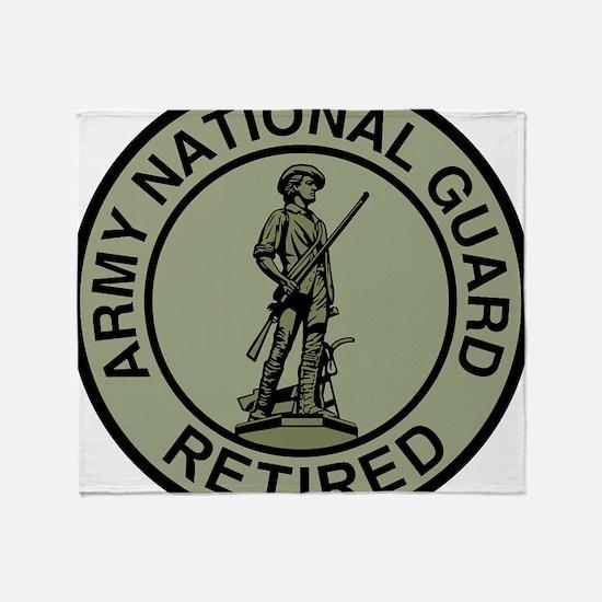 ARNG-Retired-Black-Green.gif Throw Blanket
