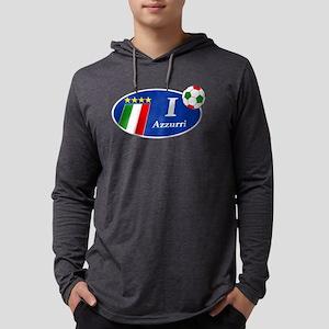 I Love Azzurri Mens Hooded Shirt