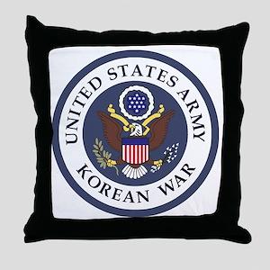 ARMY-Korean-War-Veteran-Bonnie-3 Throw Pillow