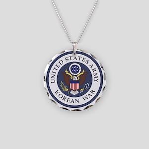 ARMY-Korean-War-Veteran-Bonn Necklace Circle Charm