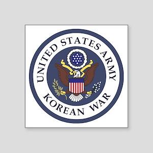 "ARMY-Korean-War-Veteran-Bon Square Sticker 3"" x 3"""