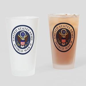ARMY-WWII-Veteran-Bonnie-3 Drinking Glass