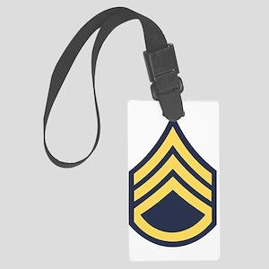 Army-SSG-Blue-Dark-Shirt Large Luggage Tag